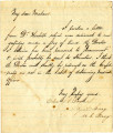 Box 1, Folder 05: Correspondence - Confederate Captivity, February 2, 1864 and undated