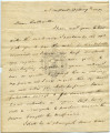 Oliver Hazard Perry letter to Matthew Calbraith Perry