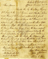 Oliver Hazard Perry letter to Sarah Perry